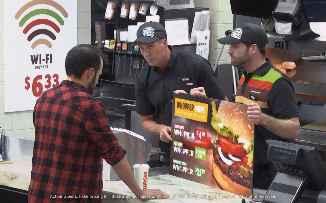 Burger King erklärt die Netzneutralität anhand einer Zwei-Klassen-Burgergesellschaft