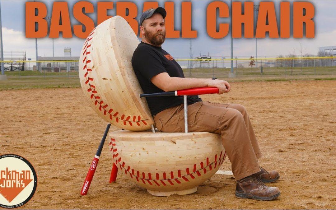 Wie man sich einen gigantischen Baseballstuhl selber baut