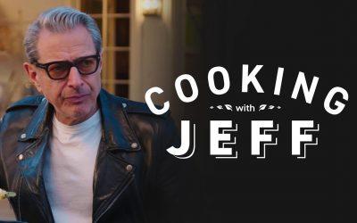 Jeff Goldblum kocht, obwohl er nicht kochen kann