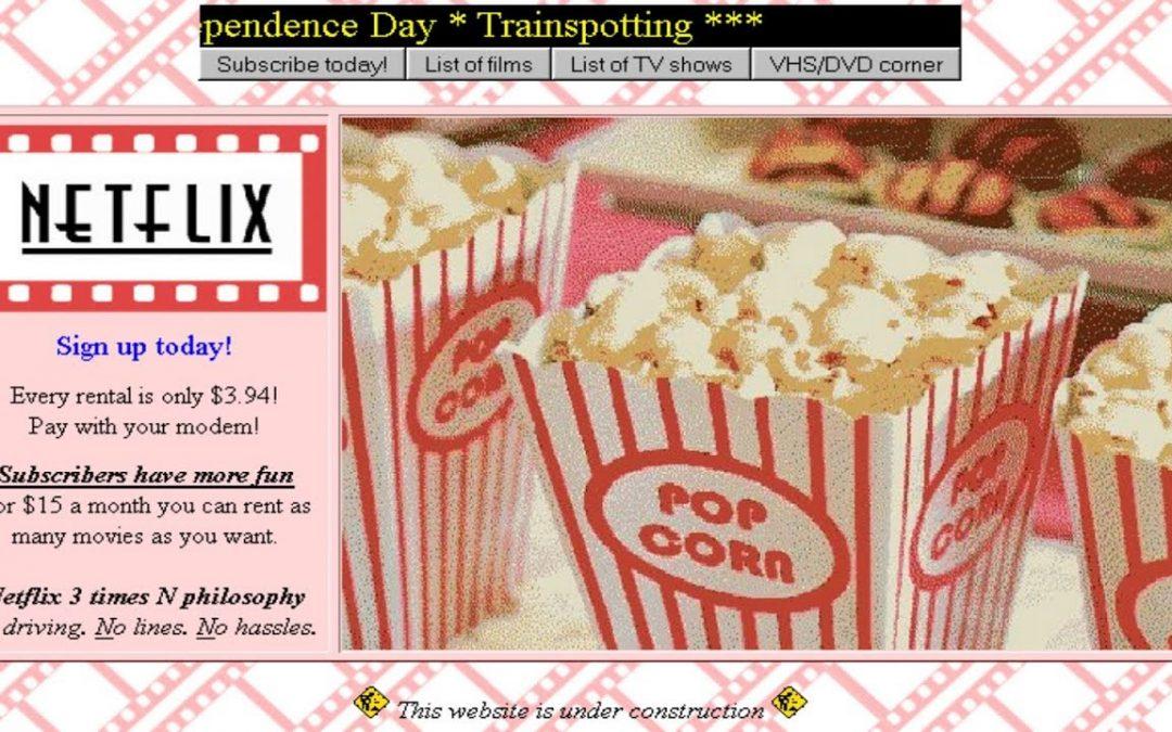 Wie Netflix in den 90er Jahren ausgesehen hätte